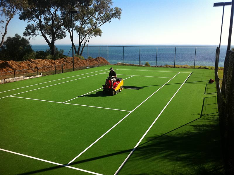 geelong grass tennis court